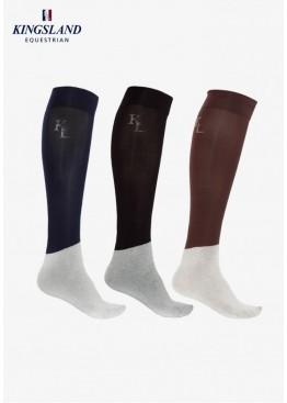 Носки для конного спорта турнирные Classic, набор из 3-х пар, Kingsland