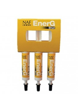 Средство для лошади для быстрого заряда энергии Energ Shot, набор из трех шприцов, NAF 5 Stars