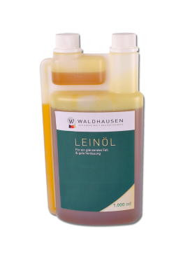 Льняное масло для блестящей шерсти и хорошего пищеварения 1л - Waldhausen