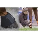 Как защитить лошадь используя бинты и ногавки?