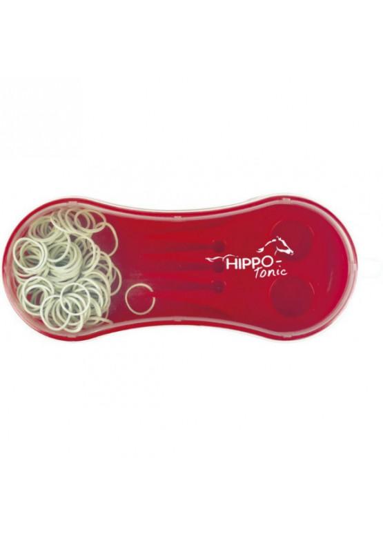 Резинки в коробочке с гребешком - Hippo-TONIC